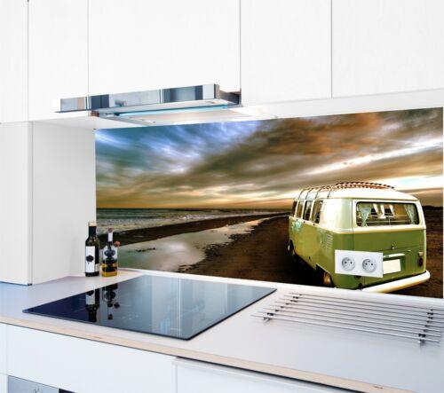 Cuisine Mur Arrière Plage 1000 motifs en Verre acrylique anti-projections Carreaux Miroir