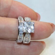Diamond Alternatives Wedding Engagement Promise Ring Platinum 3ss3 Over 925 SS