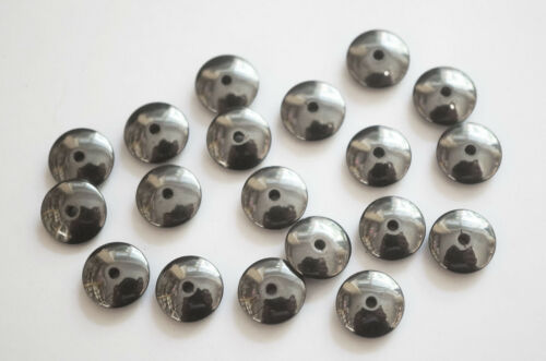 30 Hematite Disc Hematite Rondelle Beads 10mm