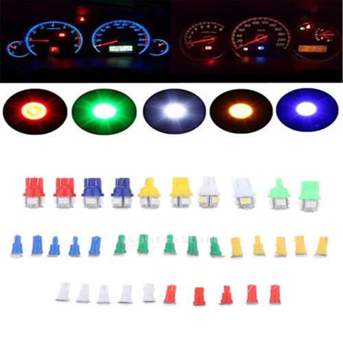 40Pcs T5+T10 Mixed Car Auto Dashboard Lights Instrument Panel LED Light