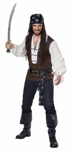 High Seas Adventurer Pirate Adult Men Costume