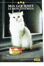 PUBLICITE ADVERTISING 0217  1985  Gourmet  patée pour chat
