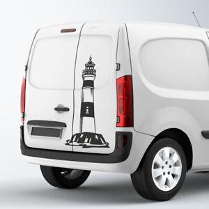 Auto-Aufkleber-Leuchtturm-Outdoor-Strand-Meer-Natur-Sticker-1411-150