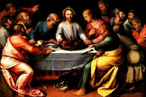 the last supper jesus christ apostles biblical painting by otto van