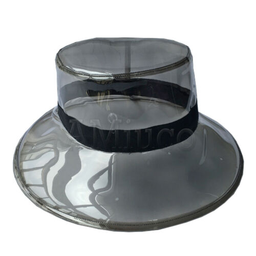Ladies Transparent Hat Fisherman PVC Sunhat Vacation Jelly Bucket Hat Headgear