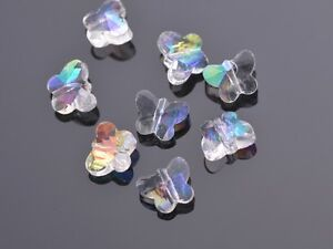 10pcs-14mm-Faceted-Butterfly-Crystal-Glass-Charms-Loose-Beads-FindingsClear-AB