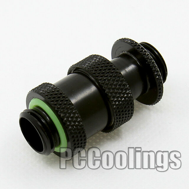 Retractable Connector Fitting G1/4 Thread Male to Male 22mm to 31mm MAX  Black