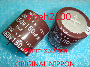 1PC-NIPPON-CHEMI-CON-450V-150UF-Electrolytic-Capacitor-30X30mm