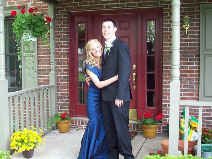 Mermaid dark bluee prom dress