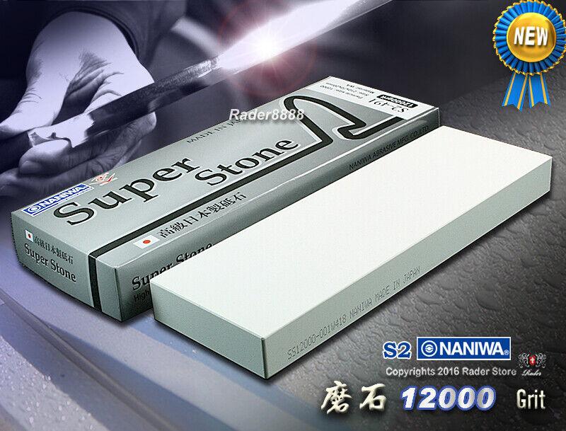 Japonais NANIWA Super Stone  12000 Grit Whetstone Haute Qualité Sharpening Stone