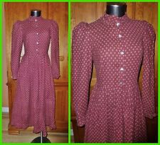 RaRe LAURA ASHLEY Vtg 1960s Carno WALES Victorian Country Boho DRESS UK 12 US 10