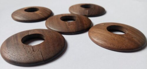 Walnut Low Profile Wooden poele Pipe Cover for 15 mm pipes Wood