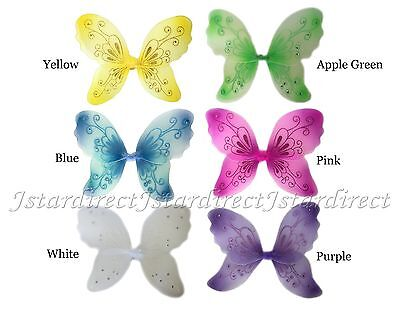 34 White Fairy Wings Butterfly TinkerBell Pixie Dress Up Costume