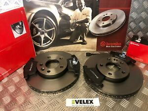 BREMBO-VW-TRANSPORTER-T5-2003-TO-2015-FRONT-BRAKE-DISCS-amp-PADS