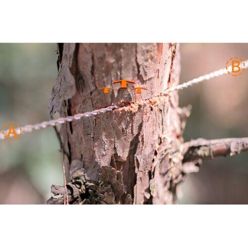 1X Hand Gezogene Außen Seil Säge 304 Edelstahl Draht Säge Camping Lebens Re E9N7