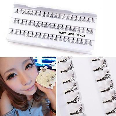 60Pcs Natural Black False Extension Eyelash Fake Long Thick Individual Eyelashes