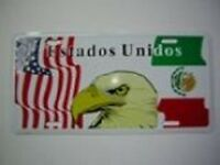 Mexico Mexican Usa American Eagle Estados Unidos Flag 6x12 License Plate Sign