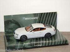 Bentley Continental Supersports 2009 Grey van Minichamps 1:43 in Box *24546