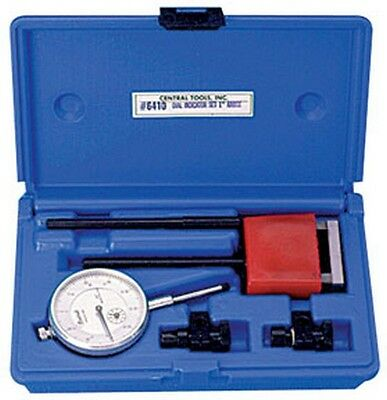 0-100 Standard Dial Indicator Set With Magnetic Mounting Cen-6410 Brand New!