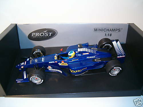 F1 PEUGEOT PROST AP03 HEIDFELD  ANNEE 2000 1 18 minicha