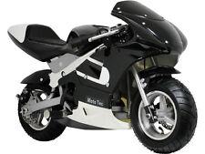 MotoTec 33cc 2 Stroke Gas Pocket Bike - Ride On Mini Bike - Black or Blue - MTGP