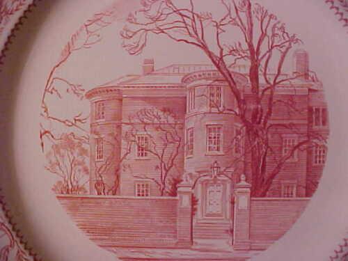 "White Wedgwood China Radcliffe College 8.75/"" Plate 1934 Barlaston England M594"