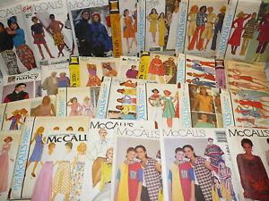 McCall-039-s-Vintage-Misses-amp-Men-039-s-Sewing-Patterns-U-Pick-Lot-27-Uncut