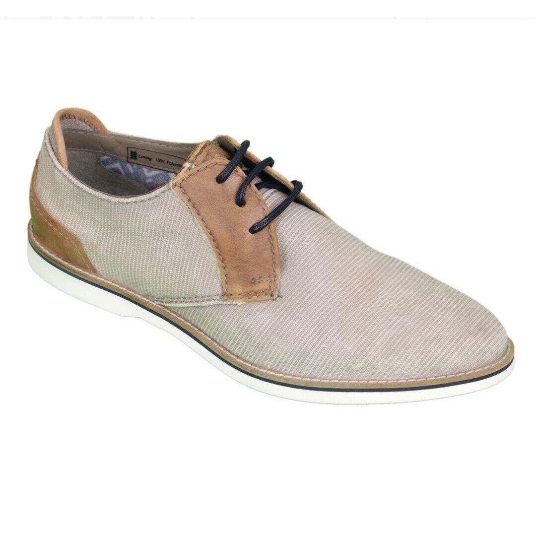 Bugatti Men's shoes Lace-Up Grey Brown 311671026900 Grey