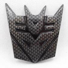 NEW JDM Carbon Fiber Transformers Decepticon Car Badge Emblem Sticker Trunk SIDE