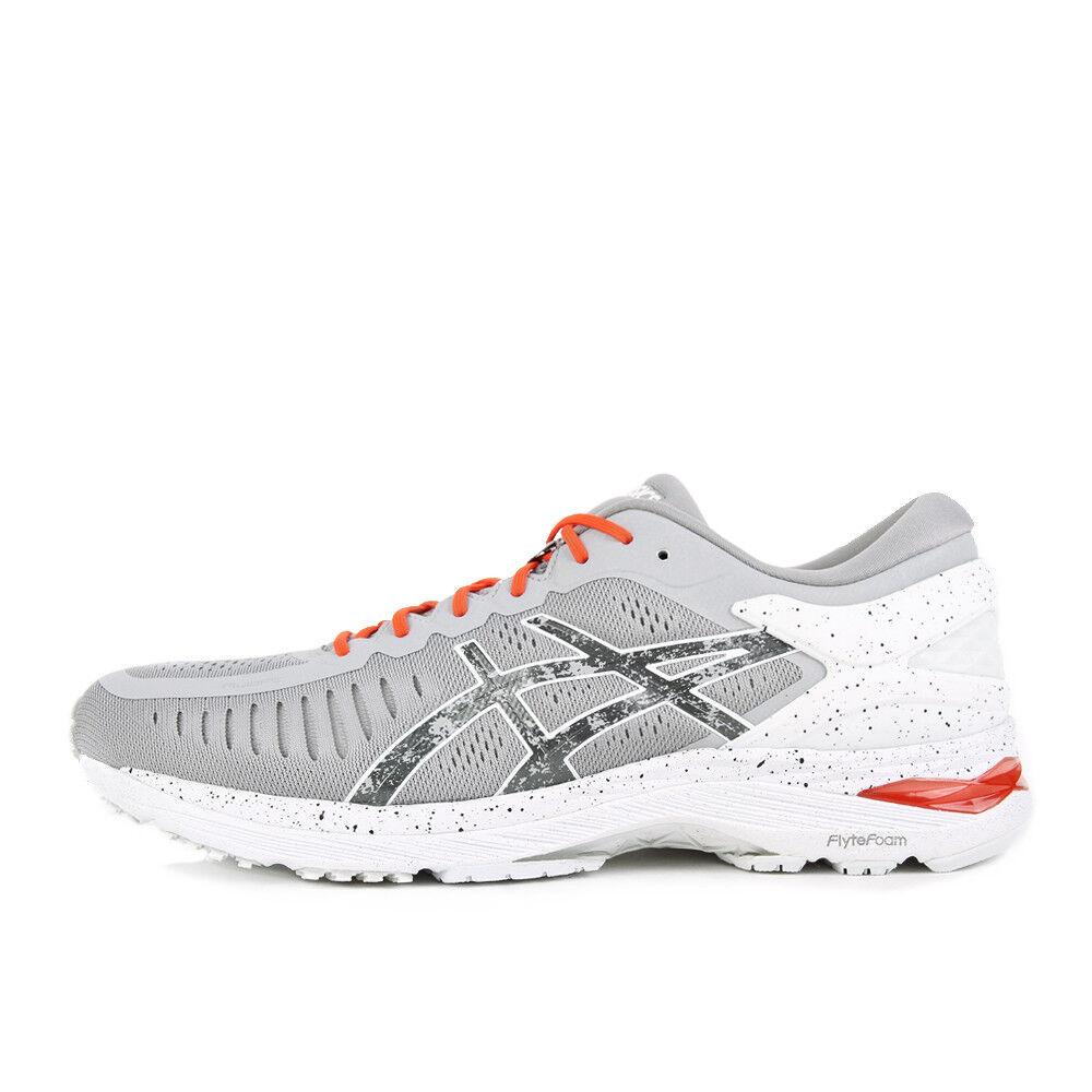 Asics metarun concrete gris Shu rojo Hazy blanco zapatillas gris rojo blancoo