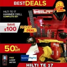 Hilti Te 17 Hammer Drill Excellent Condition Made In Germany Free Laser