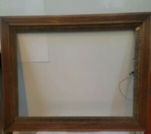 Old-Antique-WOOD-Frame-Large-20x15-Artwork-Photo-fit