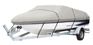 PyleSports Armor Shield Boat Cover 17'-19'L to 102'' V-Hull Runabouts Outboards
