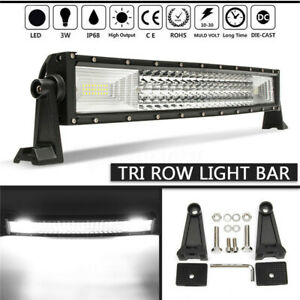 22-Inch-324W-Curved-LED-Work-Light-Bar-Flood-Spot-Offroad-Driving-Lamp