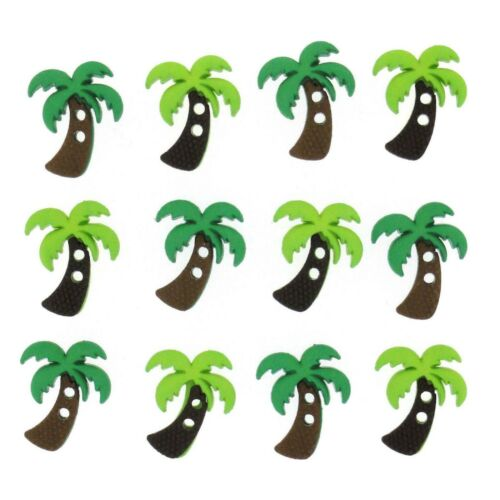 Dress It Up SEW CUTE PALM TREE 6935 Sew Craft Beach Jesse James Buttons