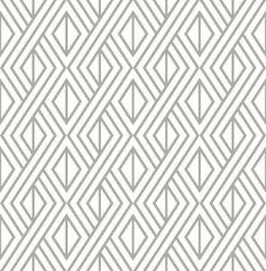 Wallpaper-Retro-Modern-Geometric-Metallic-Silver-Ink-on-White-Background