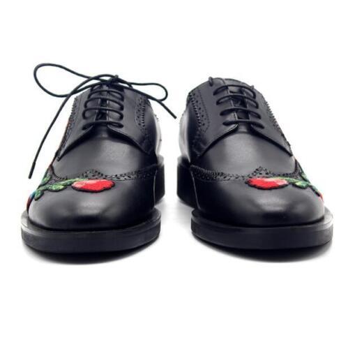 lederen Brogue Fashion schoenen Lace Up bloemen Business 2019 Oxford borduurwerk VpjUzGqMLS