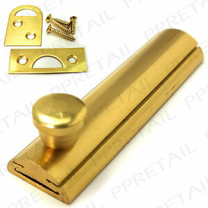 Image Is Loading 63mm QUALITY FLAT SLIDE CABINET BOLT BRASS Cupboard