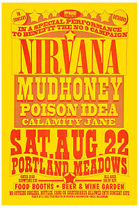 Image Is Loading Nirvana Amp Mudhoney At Portland Concert Poster 1992