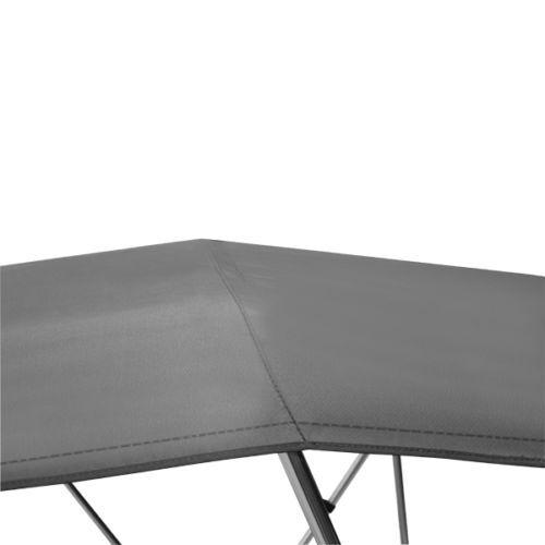 "Bimini Top 3 Bow 67/"" 72/"" Wide 6ft Long Grey PREMIUM RANGE With Rear Poles"