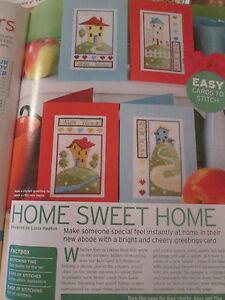 """""""home Sweet Home"""" Lucie Heaton Cartes Cross Stitch Charts (uniquement)-afficher Le Titre D'origine Nettoyage De La Cavité Buccale."""