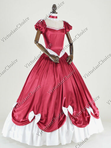 Victorian Costumes: Dresses, Saloon Girls, Southern Belle, Witch    Victorian Southern Belle Masquerade Prom Dress Gown Reenactment Theater N 323 $155.00 AT vintagedancer.com
