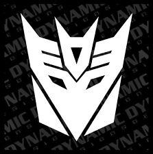 Large Transformers Decepticon logo symbol vinyl window decal sticker