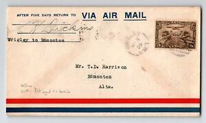 Canada-1929-FFC-Ft-Wrigley-to-Edmonton-Can-517e-Pilot-Signed-Z12973
