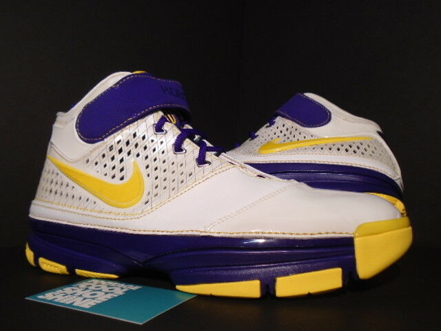 07 Nike Zoom KOBE II 2 LA LAKERS CARPE DIEM 10.5 WHITE PURPLE YELLOW 316022-171 10.5 DIEM 8155d7