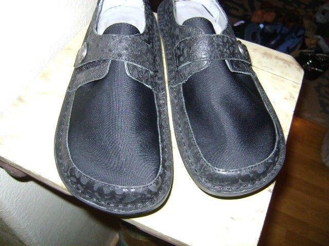 ALEGRIA  Dream Fit Black Leather Neoprene Dena DEN-435W, Size Size Size 8   39 86d26c
