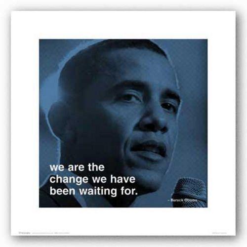 Barack Obama Change African American Art Print 16x16