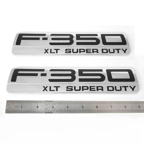 NEW Ford F-350 XLT Super Duty Door Emblem 5C3Z-16720-SA Logo Nameplate Decal Set