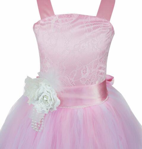 Flower Girls Princess Dress Kids Party Pageant Wedding Bridesmaid Tutu Dresses