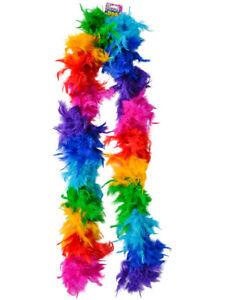 "Deluxe 6' Rainbow Pride Parade 72"" Costume Feather Boa"